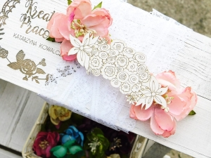Tekturka - Wedding Day - Kwiaty - Border
