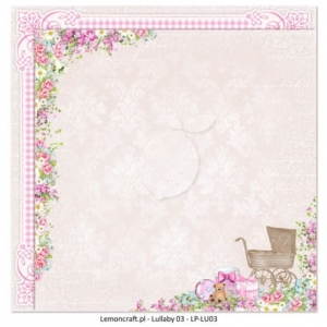Lemoncraft - Dwustronny papier do scrapbookingu - Lullaby 03